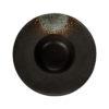 Тарелка для пасты «Corone Rustico» 230 мм черная с зеленым
