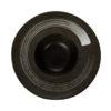 Тарелка для пасты «Corone Rustico» 230 мм черная с белым