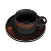 Чайная пара «Corone Rustico» 265 мл черный с медным