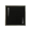 Тарелка квадратная «Corone Rustico» 260х260мм черная с белым