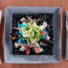 Блюдо квадратное «Corone» 264х264 мм серое