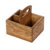 Ящик для сервировки 190х170 мм деревянный с ручкой
